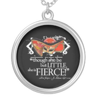 Shakespeare Midsummer Night's Dream Fierce Quote Silver Plated Necklace