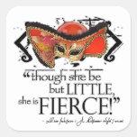 Shakespeare Midsummer Night's Dream Fierce Quote Square Sticker