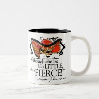 Shakespeare Midsummer Night's Dream Fierce Quote Two-Tone Coffee Mug