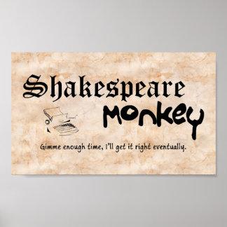 Shakespeare Monkey Poster