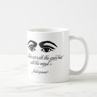 Shakespeare Mug, Love Looks not with Eyes Classic White Coffee Mug