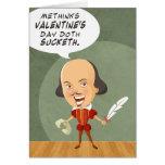 Shakespeare no en tarjeta de felicitación del amor