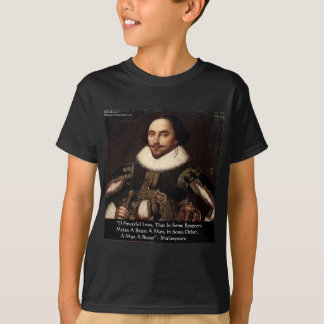 """Shakespeare """"O Powerful Love"""" Quote Gifts Tees Etc"""