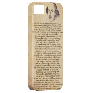 Shakespeare on your iPhone - Taming of the Shrew iPhone 5 Case