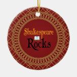 Shakespeare oscila rojo y el regalo del recuerdo ornamentos de navidad