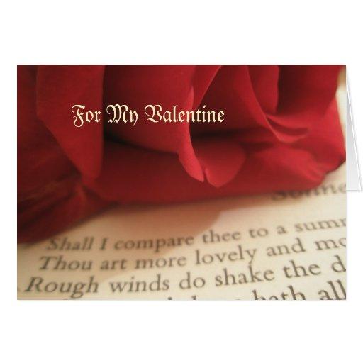 Shakespeare. Para mi tarjeta del día de San Valent