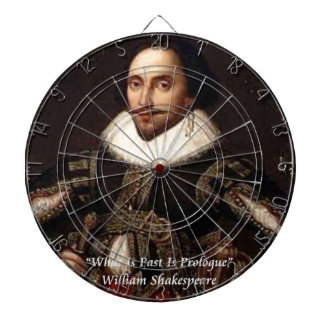 Shakespeare Past Is Prologue Quote Dartboard With Darts