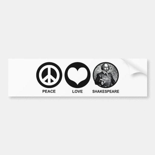 Shakespeare Pegatina Para Auto