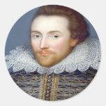 Shakespeare Pegatina Redonda
