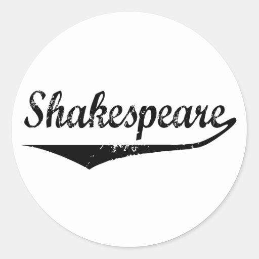 Shakespeare Pegatinas Redondas