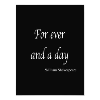 Shakespeare Personalized Quote For Ever and a Day Photo
