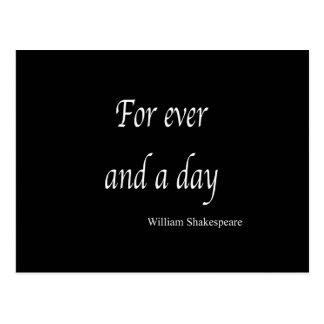 Shakespeare Personalized Quote For Ever and a Day Postcard