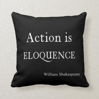 Shakespeare personalizó la acción de la cita es cojin