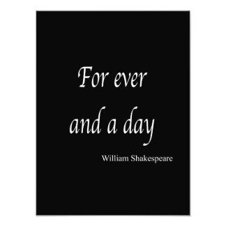 Shakespeare personalizó la cita para nunca y un fotografía