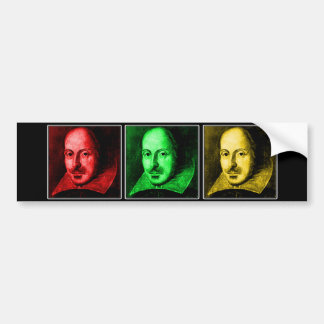 Shakespeare Pop Art Bumper Sticker
