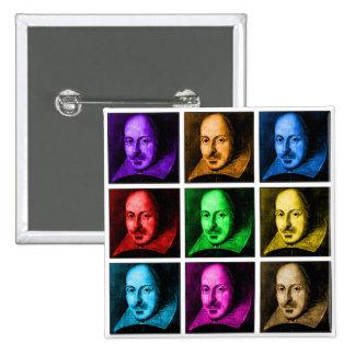 Shakespeare Pop Art Button