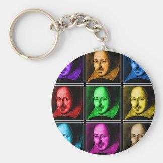 Shakespeare Pop Art Keychain