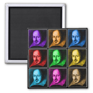 Shakespeare Pop Art Refrigerator Magnets
