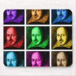 Shakespeare Pop Art Mouse Pad