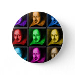 Shakespeare Pop Art Pinback Button