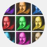 Shakespeare Pop Art Round Sticker