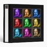 Shakespeare Pop Art Vinyl Binders