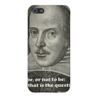 SHAKESPEARE PORTRAIT WITH QUOTE COVER FOR iPhone SE/5/5s