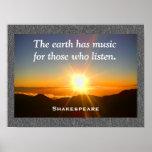 Shakespeare - poster de la música