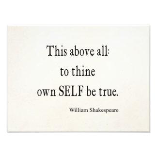 Shakespeare que la cita a Thine posee a uno mismo Arte Fotográfico
