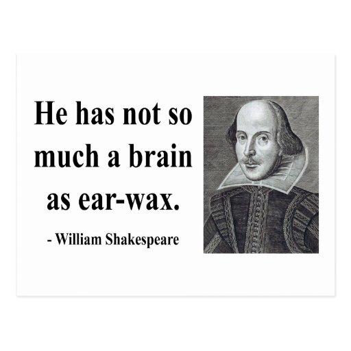 Shakespeare Quote 12b Postcard