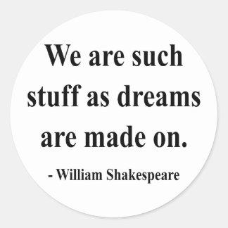 Shakespeare Quote 2a Classic Round Sticker