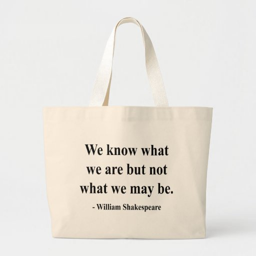 Shakespeare Quote 3a Jumbo Tote Bag