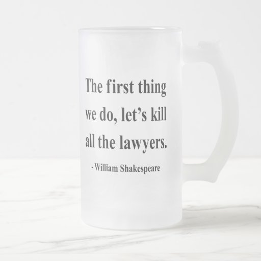 Shakespeare Quote 4a Frosted Glass Beer Mug