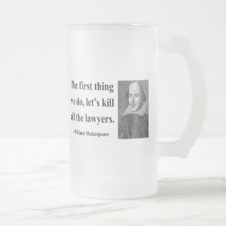 Shakespeare Quote 4b Frosted Glass Beer Mug