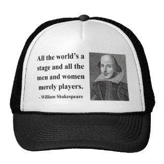 Shakespeare Quote 5b Trucker Hat