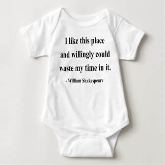 Shakespeare Quote 6a Baby Bodysuit