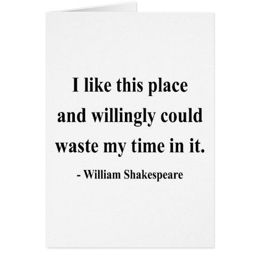 Shakespeare Quote 6a Card