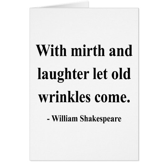 Shakespeare Quote 7a Card