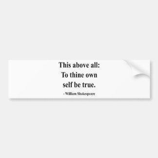 Shakespeare Quote 8a Bumper Sticker