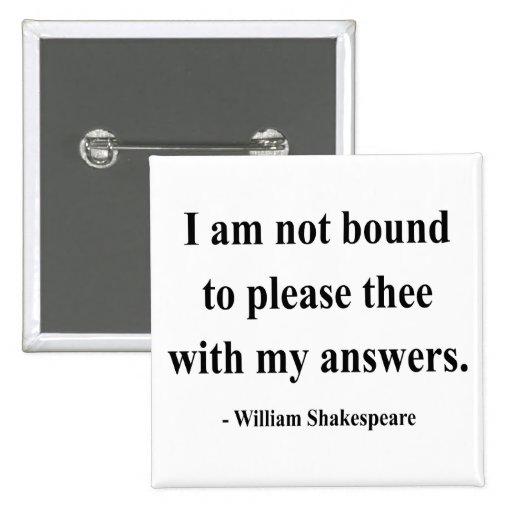 Shakespeare Quote 9a 2 Inch Square Button
