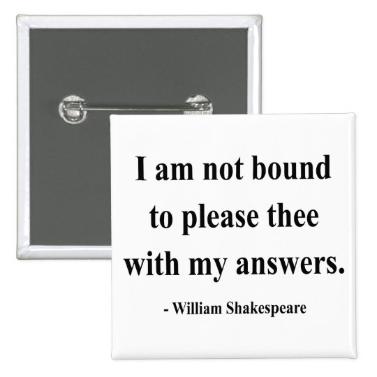 Shakespeare Quote 9a Pinback Button