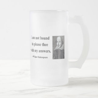 Shakespeare Quote 9b Frosted Glass Beer Mug
