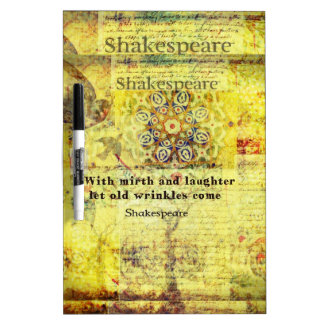 Shakespeare quote about happiness and laughter Dry-Erase board