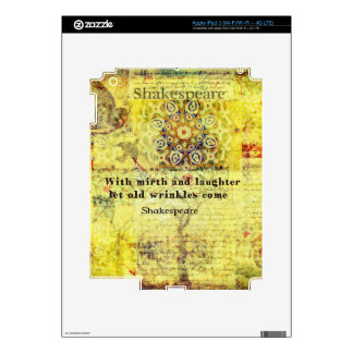Shakespeare quote about happiness and laughter iPad 3 decals