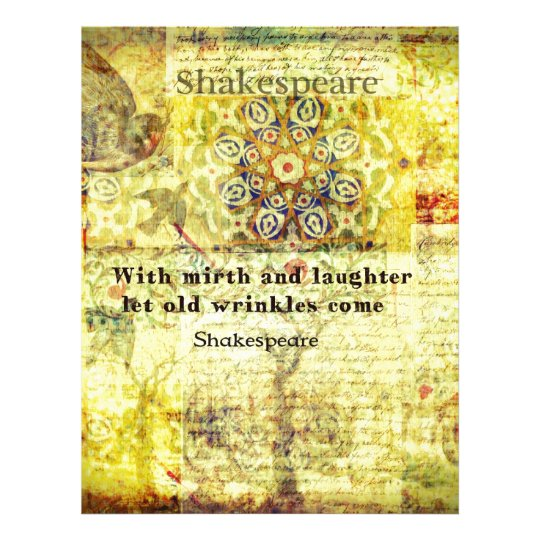 Shakespeare quote about happiness and laughter letterhead