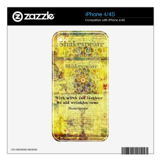 Shakespeare quote about happiness and laughter iPhone 4 decal