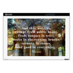 Shakespeare quote about life laptop skin