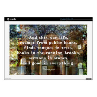 Shakespeare quote about life laptop skins