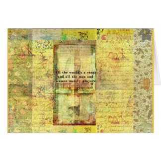 Shakespeare quote All the world's a stage ART Card
