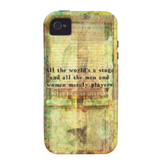 Shakespeare quote All the world's a stage ART iPhone 4/4S Cases